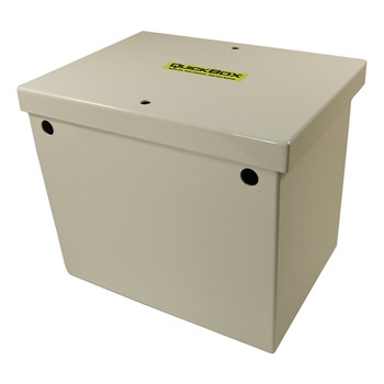 QuickCable Group 24 Aluminum Battery Box - White