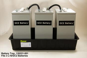 6 Volt Battery Tray - 3 Battery Tray