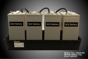 6 Volt Battery Tray - 4 Battery Tray (120220-001)