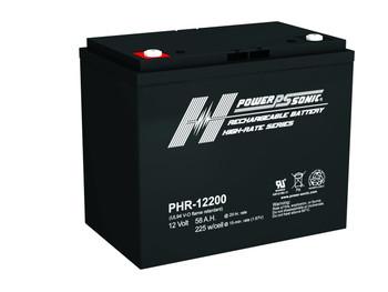 Power-Sonic PHR-12200 Battery - 12 Volt 58 AH AGM