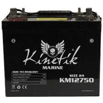 Kinetik Marine 12 Volt Battery - UB12750 - Deep Cycle AGM 24