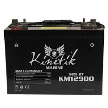Kinetik Marine 12 Volt Battery - UB12900 - Deep Cycle AGM 27