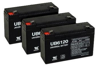 6 Volt 12 Ah UPS Battery - 3 Pack