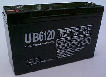Chloride 100-001-0079 Emergency Lighting Battery - UB6120