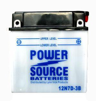12N7D-3B Battery by Power Source