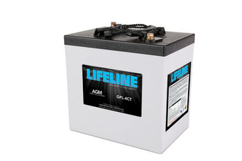 Lifeline GPL-4CT 6 Volt Deep Cycle AGM Battery