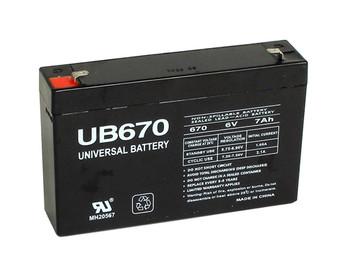 Lightalarms LCR6V6.5P1 Emergency Lighting Battery - Model UB670