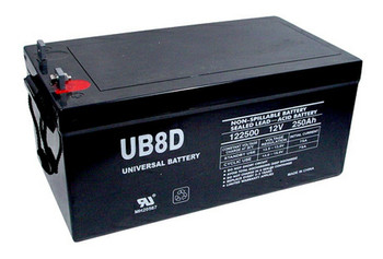 8D AGM Marine Battery - UB-8D Deep Cycle (L Post Terminals) (45964)