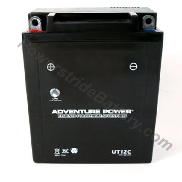Adventure Power UT12C AGM Motorcycle Battery - YB12A-A | 12C-A