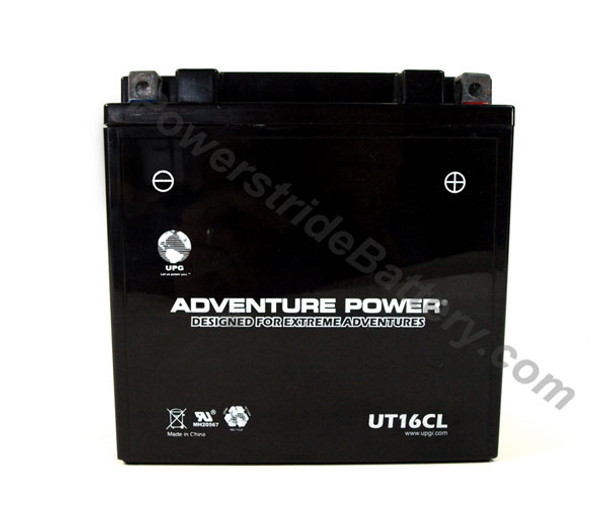 Adventure Power UT16CL AGM Motorcycle Battery - YB16CL-B