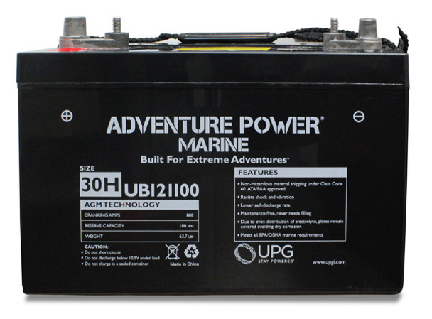 Adventure Power Group 30H Marine Battery - Group 31 Replacement