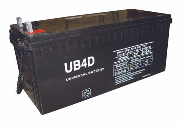 4D AGM Marine Battery - UB-4D AGM (L Post Terminals)