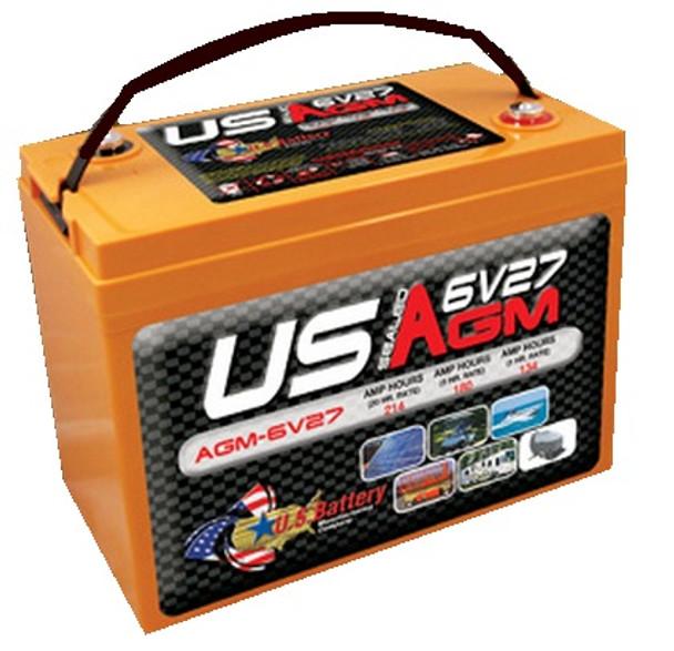 6V Group 27 AGM Deep Cycle Battery - USAGM6V27