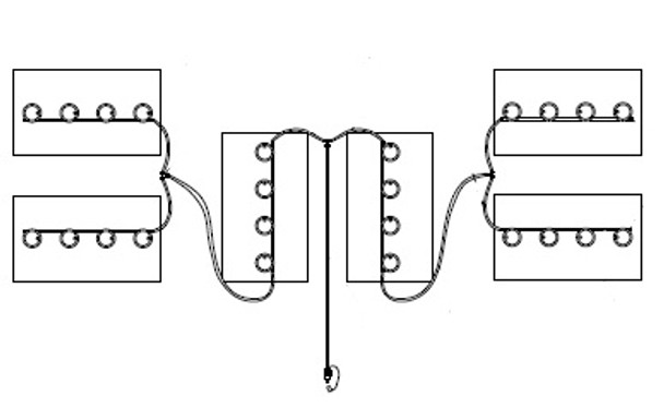 48V Club Car DS/Carryall Watering Kit for 8 Volt Trojan/US/Crown Batteries