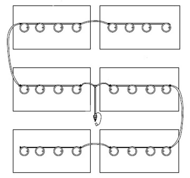48V EZ-GO TXT Watering Kit for 8 Volt Trojan Batteries