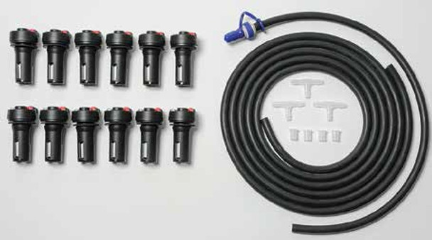 Battery Builders Forklift Battery Watering System for 12 Cells - TB4 Valves