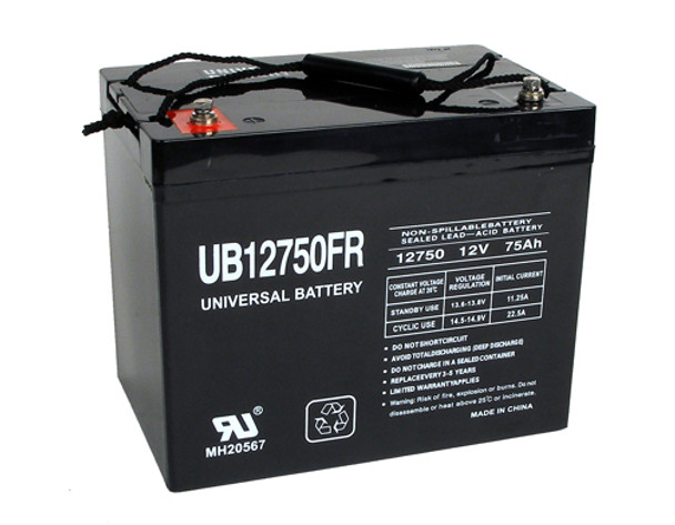 12 Volt 75 Ah Flame Retardant UPS Battery - UB12750FR (D5882)