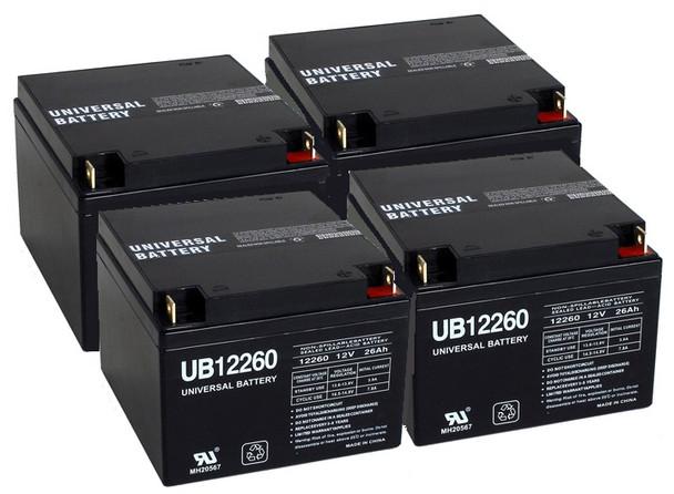 12 Volt 26 Ah UPS Battery - 4 Pack