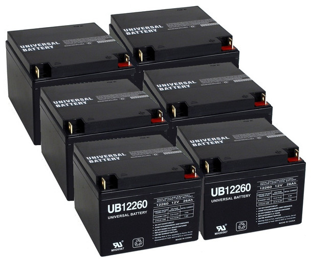 12 Volt 26 Ah UPS Battery - 6 Pack