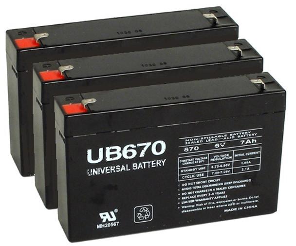6 Volt 7 Ah UPS Backup Batteries - 3 pack