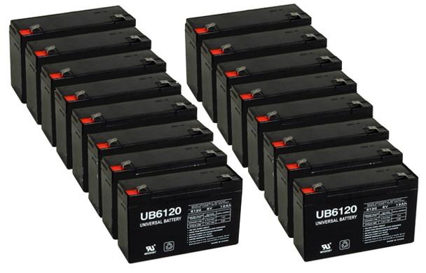 6 Volt 12Ah UPS Battery - 16 Pack