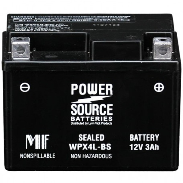 WPX4L-BS AGM Motorcycle Battery - YTX4L-BS