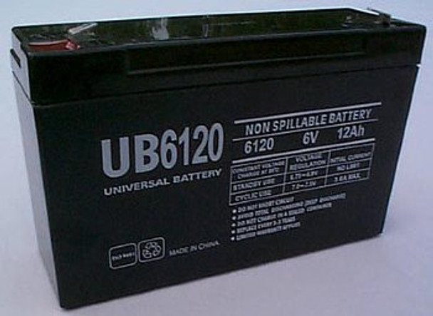 Chloride 100-001-0078 Emergency Lighting Battery - UB6120