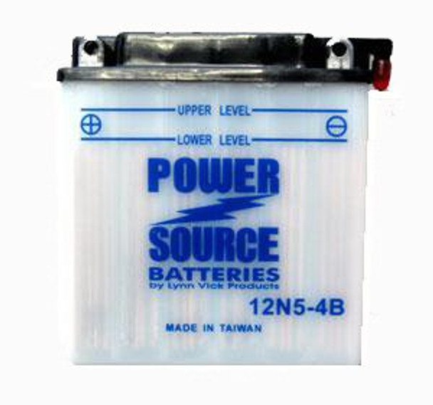 12N5-4B Motorcycle Battery by Power Source