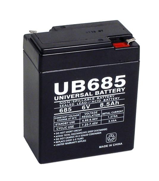 Dual-Light 4X5 12V Emergency Lighting Battery