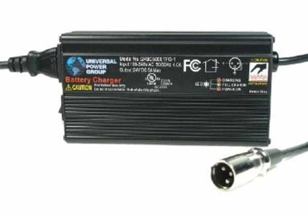24 Volt 5 Amp GEL Battery Wheelchair Charger  - Model #24BC5000TFG-1