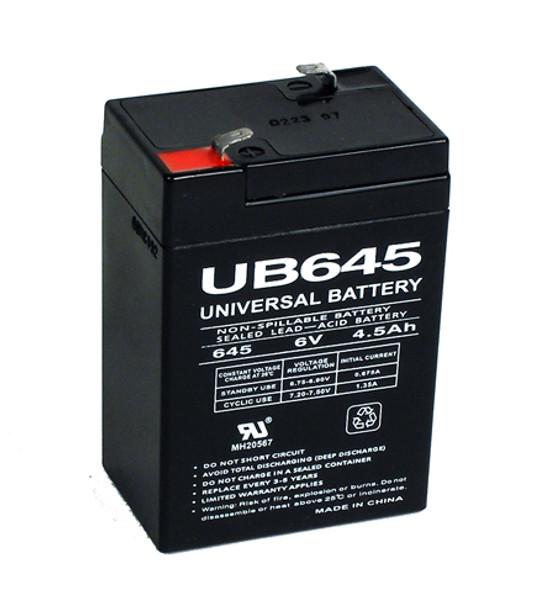 6 Volt 4.5 Ah Alarm Battery - UB645