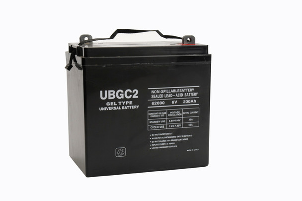 6 Volt 200Ah Gel Cell Sealed Lead Acid Golf Cart Battery - UB-GC2GEL