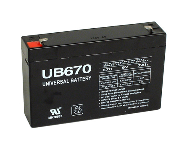 Lithonia ELB0606 Emergency Lighting Battery - Model UB670