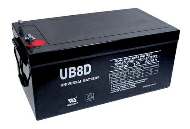 8D AGM Marine Battery - UB-8D Deep Cycle (L Post Terminals) (45964)