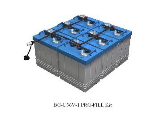 Pro-Fill Watering Kit for 36V E-Z-GO Golf Cart w/ US Batteries 6V