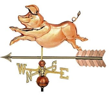 Whimsical Pig Weathervane