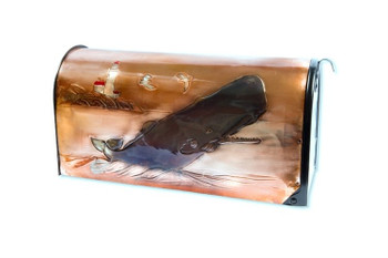 Sperm Whale Copper Mailbox