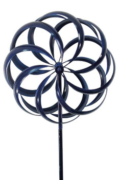 BLUE WINDWARD KINETIC WIND SPINNER