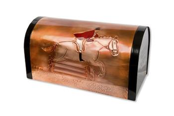 Horse Jumper Copper Mailbox