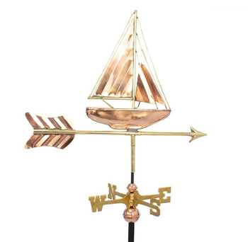 Small Deluxe Sailboat Weathervane