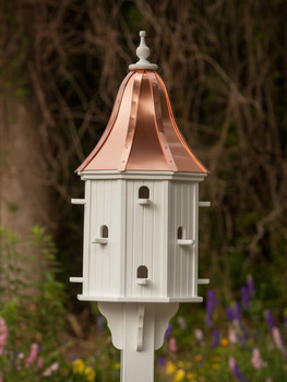 "16""W x 42""H - Octagon Dovecote Birdhouse with Perches"