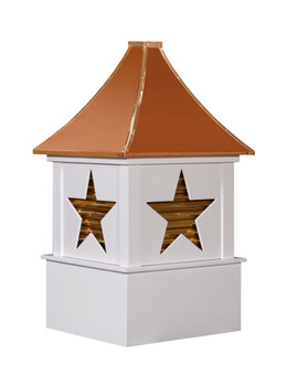 Alpha cupola with copper louvers