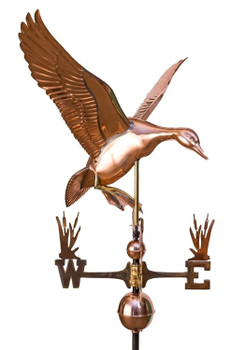 Landing Duck Weathervane with cat tail directionals