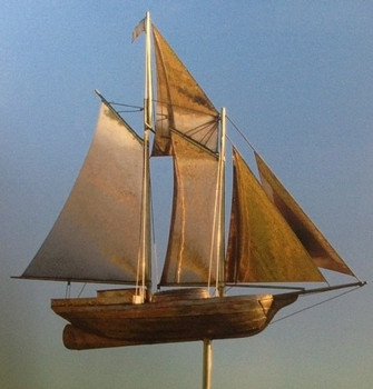Large Schooner Weathervane