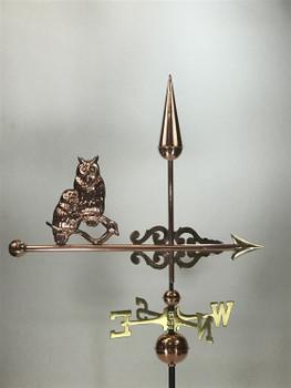Owls Banner Weathervane