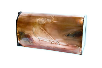 Rural Brook Trout and Streamer Copper Mailbox