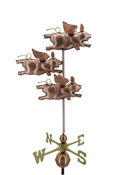 Three Flying Pig Weathervane