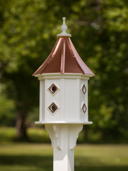 "14""W x 36""H - Octagon Dovecote Birdhouse With Portals"