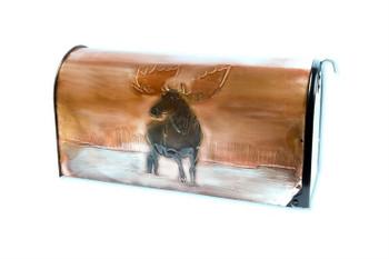Moose in Lake Copper Mailbox