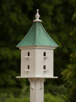 """12""""W x 32""""H - Square Dovecote Birdhouse with Perches"""